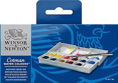 WINSOR & NEWTON COTMAN SKETCHERS POCKET BOX 12 HALF PANS