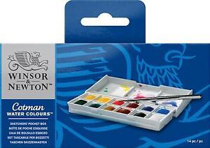 WINSOR & NEWTON COTMAN SKETCHERS POCKET BOX 12 HALF PANS