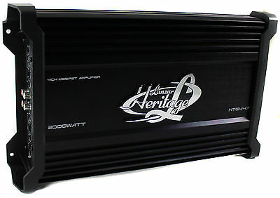 LANZAR HTG447 2000W 4 Channel Car Digital Amplifier Power Amp A/B Stereo MOSFET