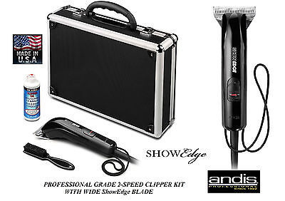 And Is Ultraedge Blade Set (Andis SHOWEDGE CLIPPER KIT&ULTRAEDGE BLADE SET,CASE*Dog Horse,Livestock Grooming )