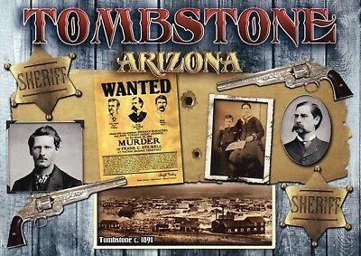 Tombstone Arizona, Wyatt Earp, Sheriff Guns Wanted Poster, etc. AZ --- Postcard