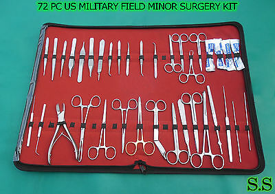 72 Pc Us Military Field Minor Surgery Surgical Veterinary Dental Instruments Kit