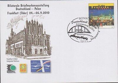 Ganzsachen Umschlag, B.Ausstellung Deutschland-Polen, FDC 9.9.2010