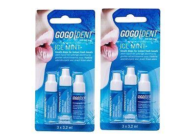 2x GOGO DENT Atem-Liquid Ice Mint 3X3 2ml PZN:9338605 breath drops Instand fresh