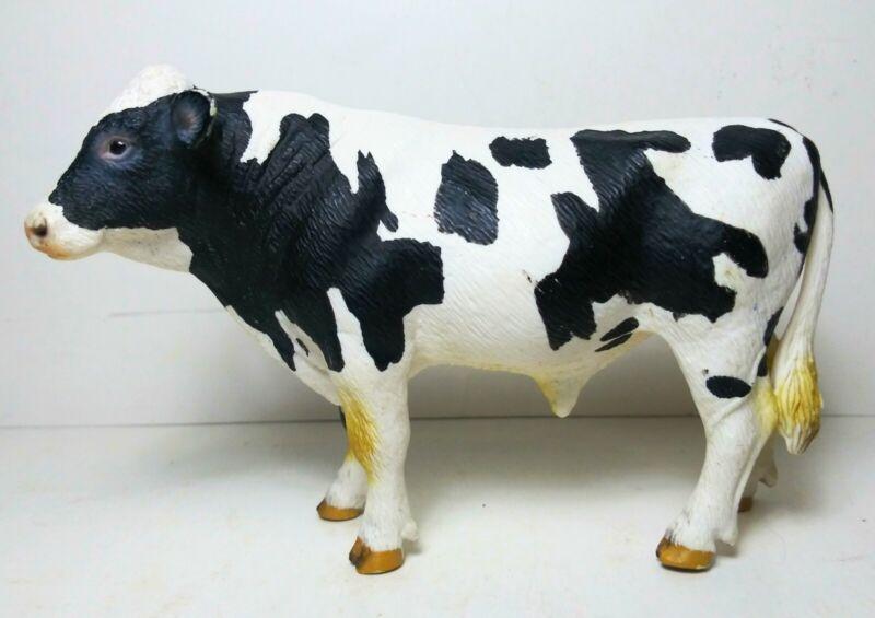 Schleich HOLSTEIN BULL Cow Dairy Farm Figure Black & White 2007 Retired