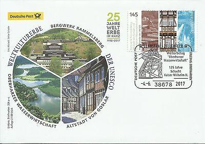 Sonderbeleg Deutsche Post AG - UNESCO Welterbe Rammelsberg  204 c  - 04.06.2017