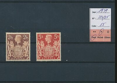 LM41955 Great Britain 1939 George VI coat of arms fine lot MH cv 55 EUR