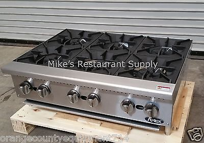 New 36 6 Burner Hot Plate Range Stove Top Atosa Athp-36-6 2548 Commercial Nsf