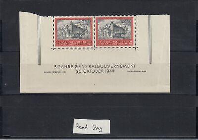 4 Im Rand (GG Generalgouvernement MiNr. 125, **, Eckrand E3/E4, Bug im Rand, SektorNr. 4)