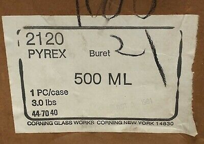 Pyrex 2120 Buret 500 Ml Chemistry Lab Glassware