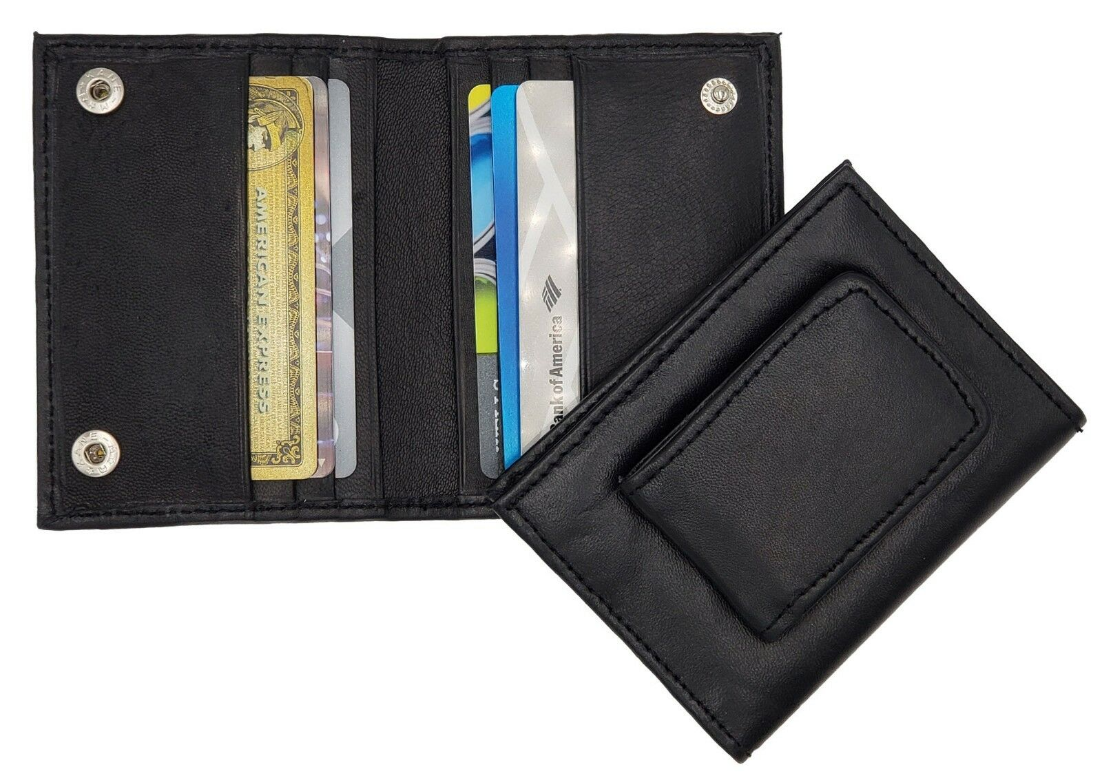 AG Wallets Magnetic Leather Money Clip Minimalis Card Holder