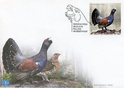 Estonia 2018 FDC Capercaillie Bird of Year 1v Set Cover Birds Stamps