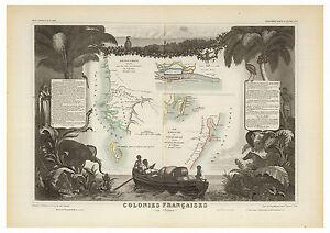 French-Africa-Senegambia-Madagascar-illustrated-map-Levasseur-ca-1856