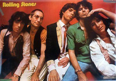 RARE THE ROLLING STONES 1979 VINTAGE ORIGINAL MUSIC POSTER