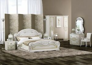 Schlafzimmer Laura in Beige 6 türig Luxus italienische Möbel aus Italien Set