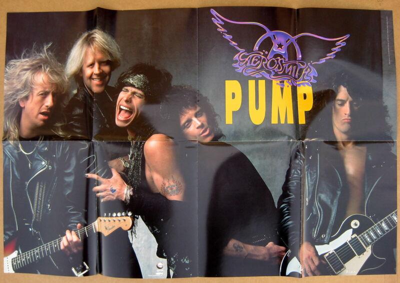 AEROSMITH Pump 1989 US Promo POSTER Steven TYLER Joe PERRY Minty!