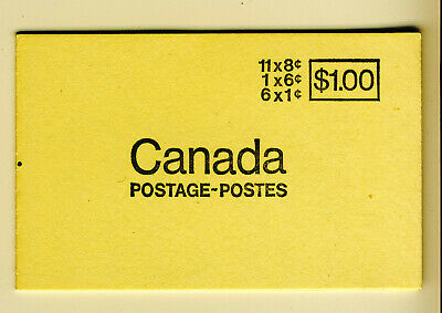 1967 #BK70b(TAGGED OP4) QUEEN ELIZABETH II 25¢ CENTENNIAL BOOKLET F-VFNH
