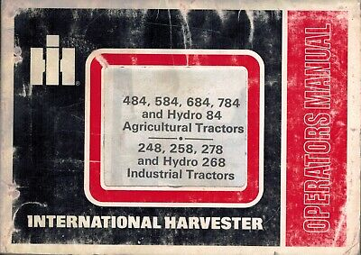 International 484 To 268 Hydro Tractors Operators Manual See Description