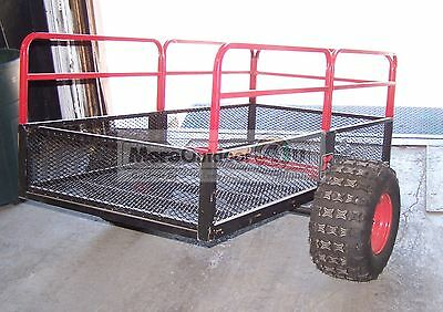 TX158 YUTRAX Steel Mesh ATV Trails Yard Wood Hauler Utility Tow Trailer SALES