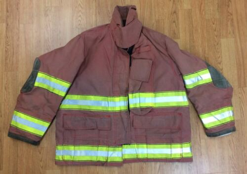 Firefighter Red Bunker Turnout Jacket 42 x 29 Globe