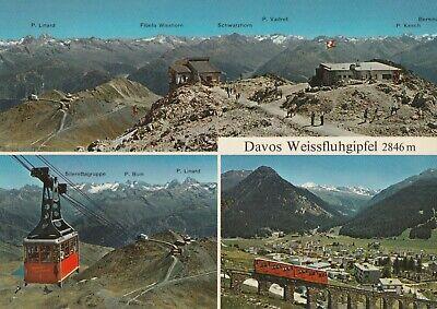 AK Davos Weissfluhgipfel, verschiedene Ansichten