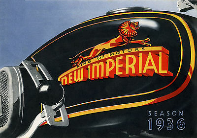 1936 New Imperial motorcycles poster