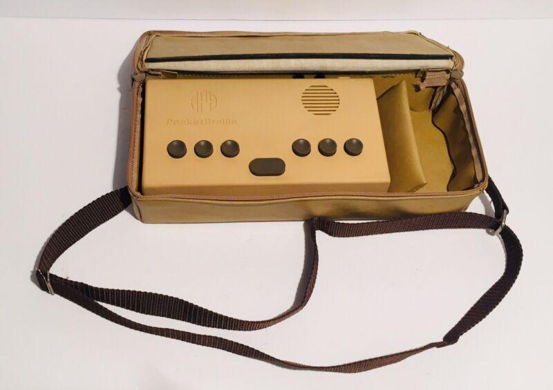 Vintage APH Pocket Braille Brailler With Case