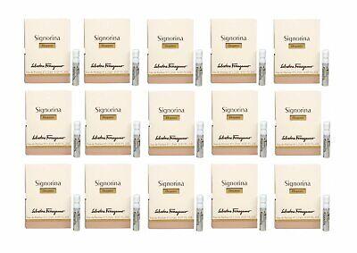 SIGNORINA ELEGANZA Salvatore Ferragamo 15 x 0.05 oz EDP Womens Perfume Vials NIB