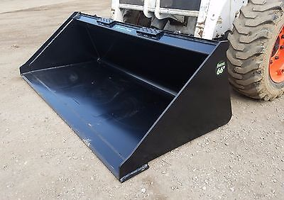 New 66 Powder Coated Smooth Bucket For Skid Steer Loader - Local Pick Up