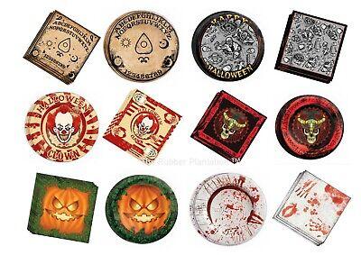 Halloween Party Servietten Papier Teller Geschirr Dekoration Requisite Horror UK