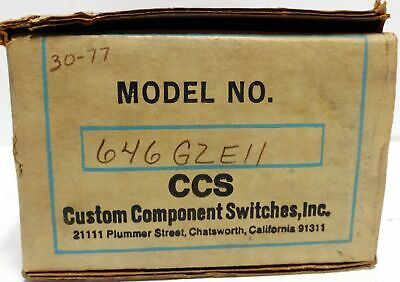 Custom Components Switches 646GZE11 Pressure Switch