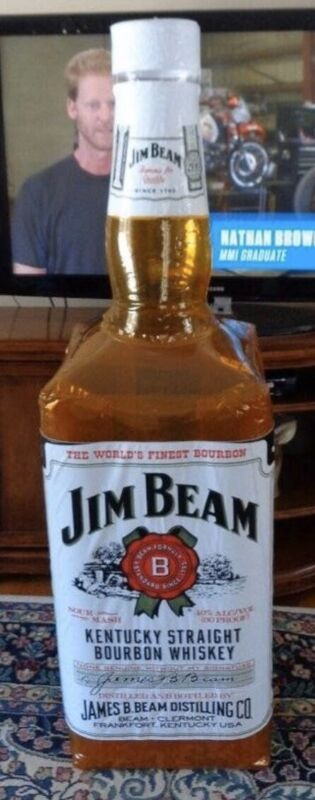 JIM BEAM INFLATABLE WHISKEY BOTTLE STORE DISPLAY ADVERTISEMENT 5ft Tall RARE