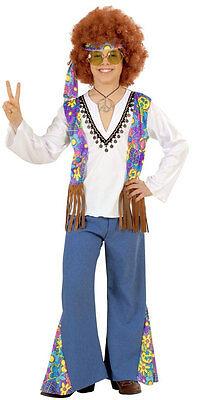 Woodstock Hippie Kostüm für Jungen NEU - Jungen Karneval Fasching Verkleidung (Hippie Kostüme Für Jungen)