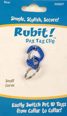 Rubit Dog Tag Clip ID Silencer Holder w/ Quick Release to move to other Collars