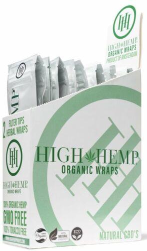 High Hemp Organic Wrap Full Box 25 Pouches, 2 Wraps per Pouch, 50 Wraps Original