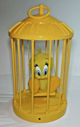 Talking Tweety Bird Vintage 1998 Plush in Cage Great Condition