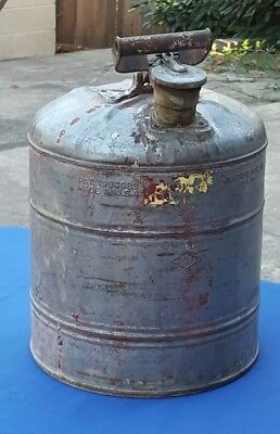 1930s Justrite Mfg Co. Chicago 5 Gallon Safety Gas Fuel Can - Vintage