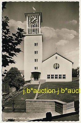 MÜHLACKER Paulus-Kirche * Foto-AK um 1950