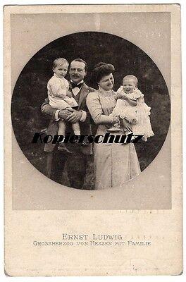 alte Ak 1911 Ernst Ludwig, Grossherzog von Hessen mit Familie