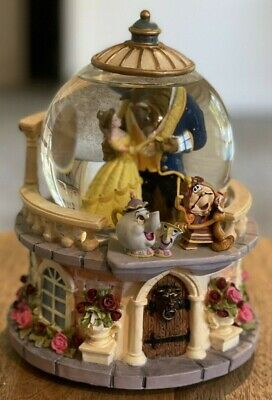 """Beauty and the Beast Disney 8"""" Musical Snow Globe - """"Tale as Old as Time"""""""