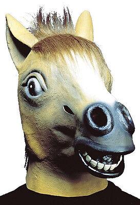 ren, Maske Pferd Pferdekopf Tiermaske Fuchs Brauner, braun (Pferd Kopf Maske)