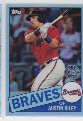 2020 TOPPS CHROME MLB ATLANTA BRAVES AUSTIN RILEY 35TH ANNIVERSARY REFRACTOR
