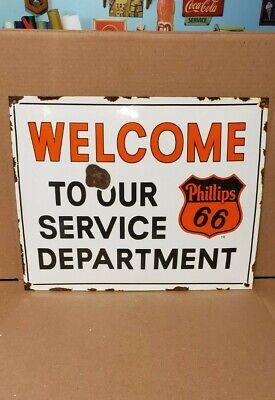 PHILLIPS 66 MOTOR OIL porcelain sign gas pump plate vintage petroleum brand