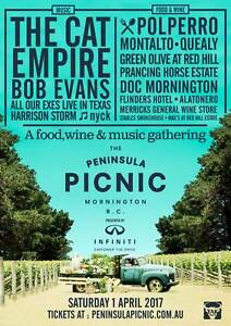 2 Tickets to The Peninsula Picnic Mount Waverley Monash Area Preview