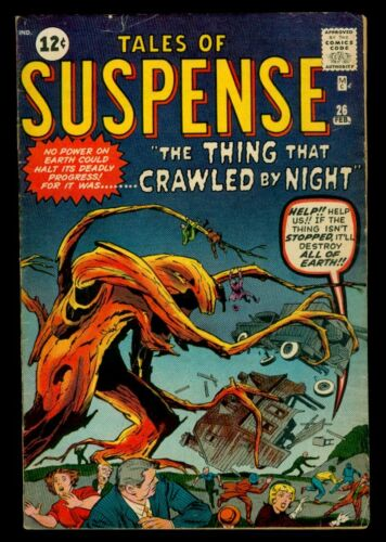Marvel Comics TALES Of SUSPENSE #26 The Thing That Crawled By Night VG/FN 5.0