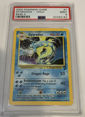 PSA 9 MINT GYARADOS HOLO Pokemon Base Set 2 7/130