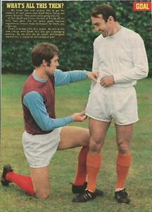 GOAL MAGAZINE. GEOFF HURST & JIMMY GREAVES (WEST HAM UNITED) PICTURE.