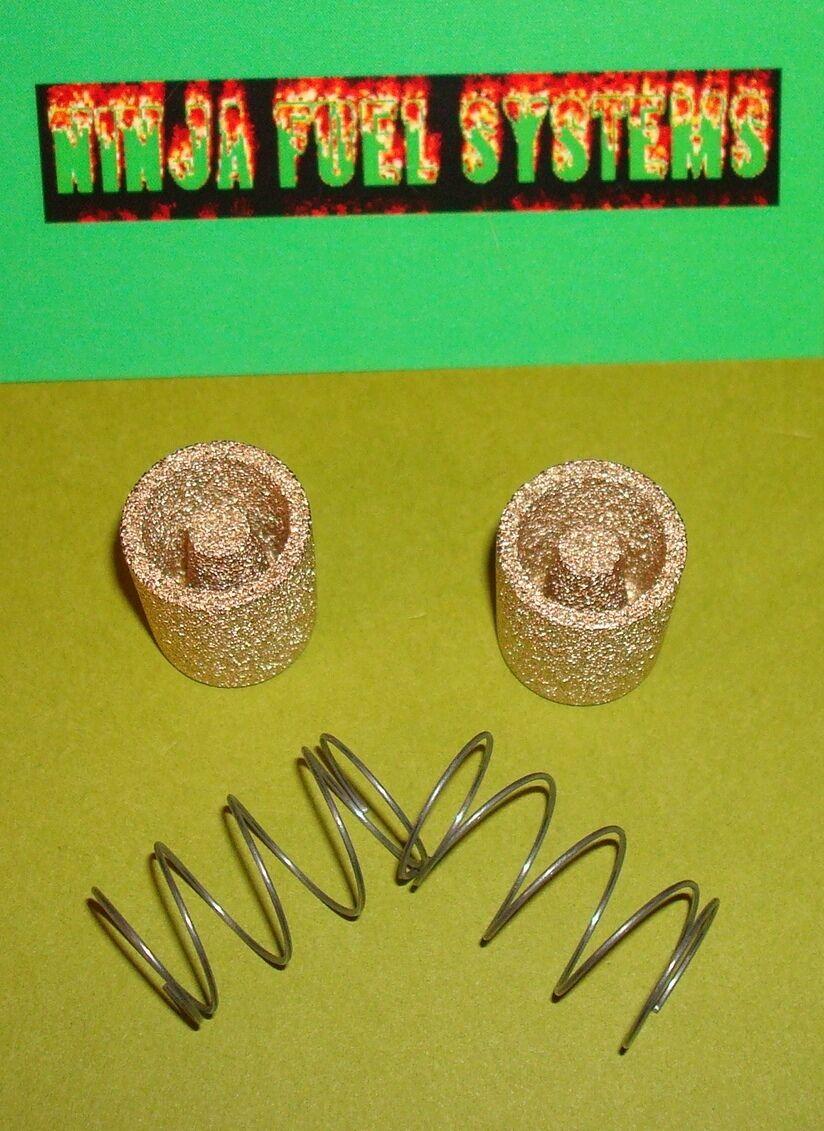 Rochester Quadrajet Carburetor Bronze Sintered Fuel Filter And Spring Kit X2