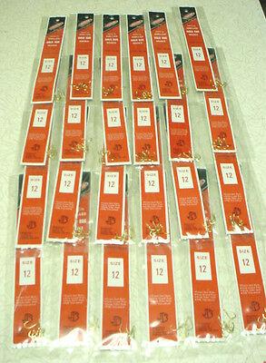 JORGENSEN  960-12 Snelled Gold Egg Hooks - 24 pks / 6 per pack - Size 12