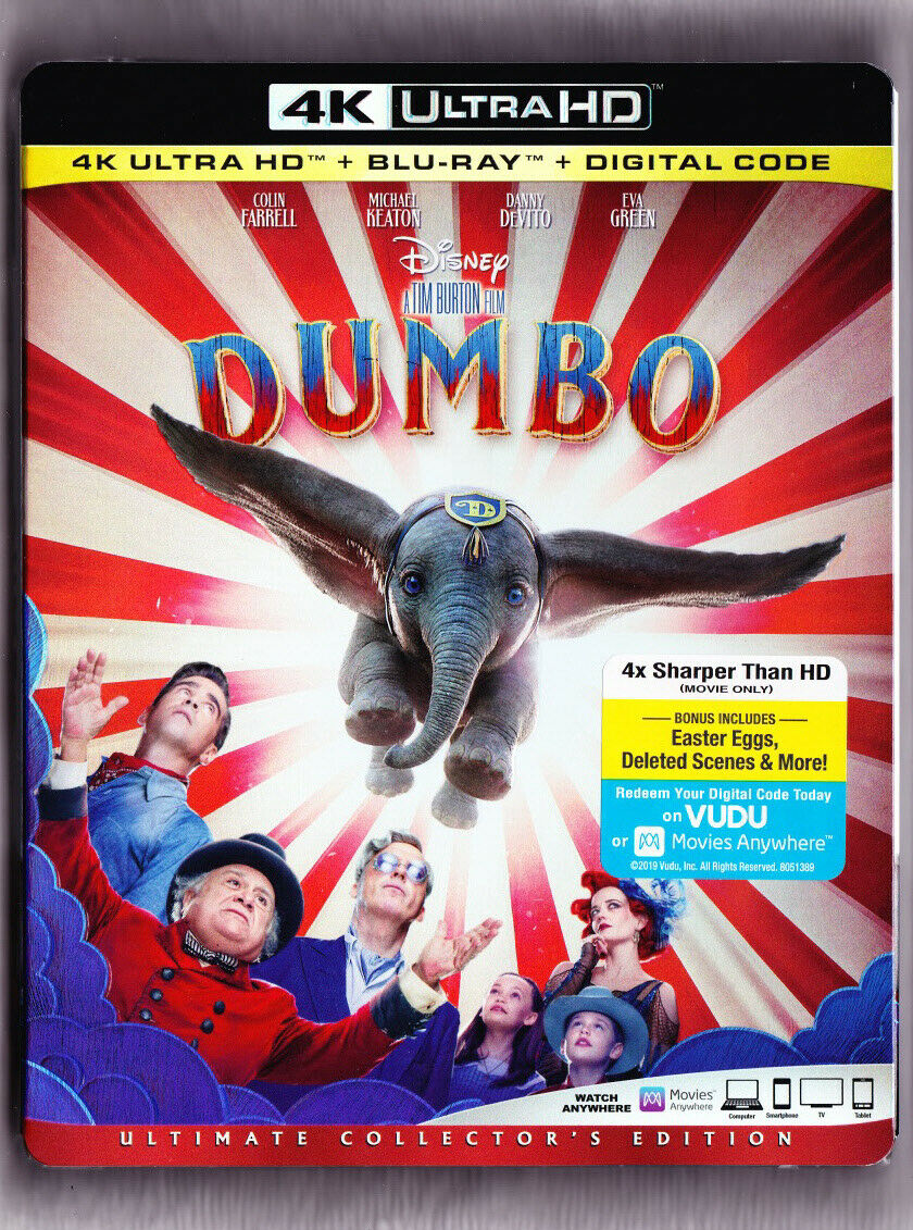 Dumbo 4K Blu-ray Digital Slipcover Brand NEW FREE~First Clas